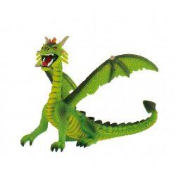 Figurák - Állatok - Bullyland zöld ülő sárkány