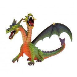 Figurák - Állatok - Bullyland kétfejű sárkány zöld