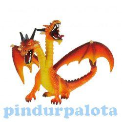 Figurák - Állatok - Kétfejű sárkány bullyland narancssárga