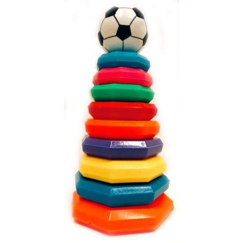 Fejlesztő játékok - Készségfejlesztő torony babáknak focis
