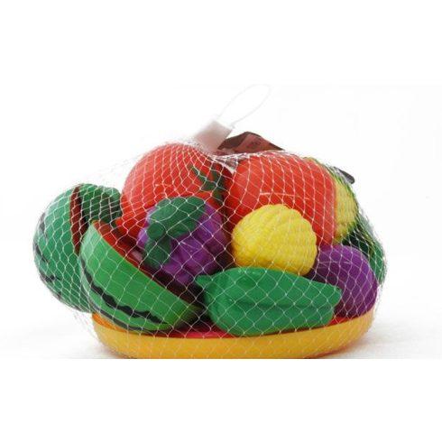 Főzős játékok - Szeletelhető gyümölcsök-zöldségek tányéron