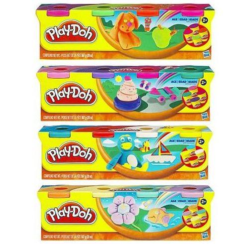 Hasbro Play-Doh 4 Tégely gyurma többféle szín
