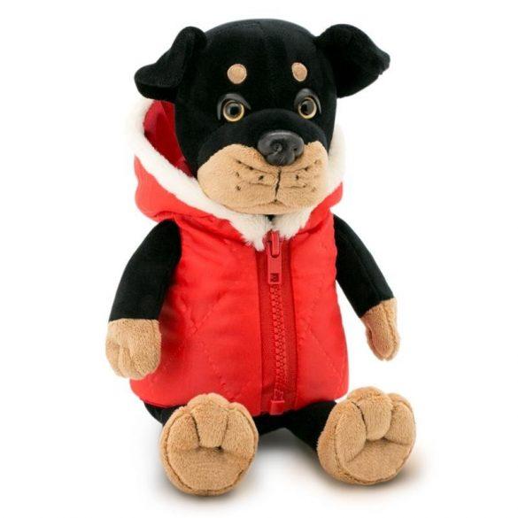 Plüss kutyák - Max Rottweiler piros kabátban Orange Toys