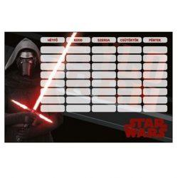 Iskolaeszközök - Órarendek - Órarend Star Wars 7 Kylo Ren