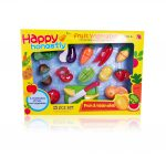 Játék konyhák - Szeletelhető zöldség, gyümölcs készlet, 15 db-os