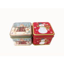 Ajándékok - Fém dobozka karácsonyi