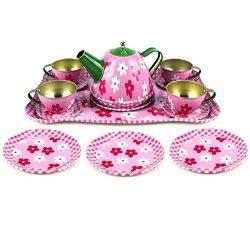 Játék konyha kiegészítő - Tea szett fém