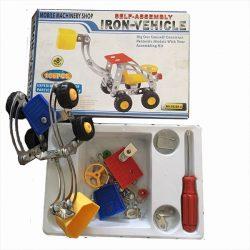 Építőjátékok gyerekeknek - Fém építő játék emelőkosaras daru