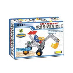 Építőjátékok gyerekeknek - Fém építő játék markolós munkagép