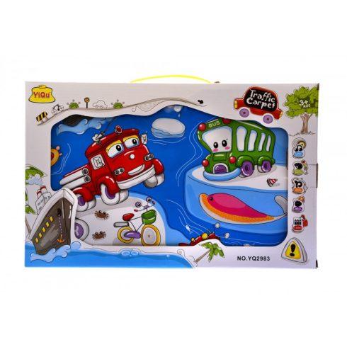 Zenélő bébijátékok - Zenélő szőnyeg járműves