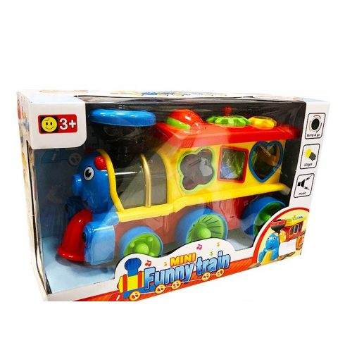 Fejlesztő játékok - Elemes mozdony formabedobóval