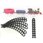 Játékvonatok - Vonatkészletek - Sínpályák - Állomások - Elemes Mozdony vagonokkal és sínnel