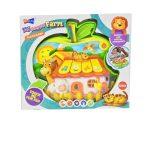 Interaktív játékok babáknak - Bébi zenélő érintős alma formájú farmos tablet alma formájú