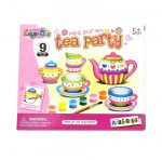 Rajzkészség fejlesztő játékok - Festhető Teás party szett festékkel és ecsettel