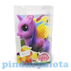 Pónis játékok - Póni figura fésűvel lila