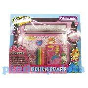 Rajzkészség fejlesztő játékok - Színező szett 6 filctollal, 8 zsírkrétával
