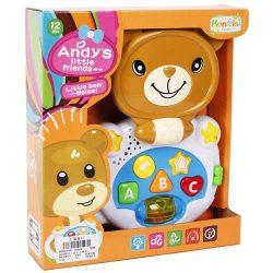 Interaktív játékok gyerekeknek - Andy kicsi Maci barátja bébi zenélő játék