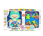 Zenélő bébijátékok - Ajándékok babáknak - Zenélő és csörgő játékszett bocis