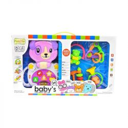 Zenélő bébijátékok - Ajándékok babáknak - Zenélő és csörgő játékszett kutyás