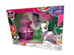 Pónis játékok - Póni szett lila sárkánnyal