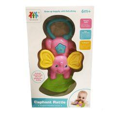 Csörgők kisbabáknak - Rózsaszín elefántos csörgő