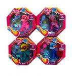 Pónis játékok - Póni szett két színű fésűvel és csattal