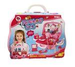 Orvosos játékok - Doktor szett autós kofferban rózsaszín lányoknak