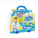 Orvosos játékok - Doktor szett autós kofferban kék fiuknak