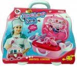 Orvosos játékok - Doktor szett autós kofferban lányos