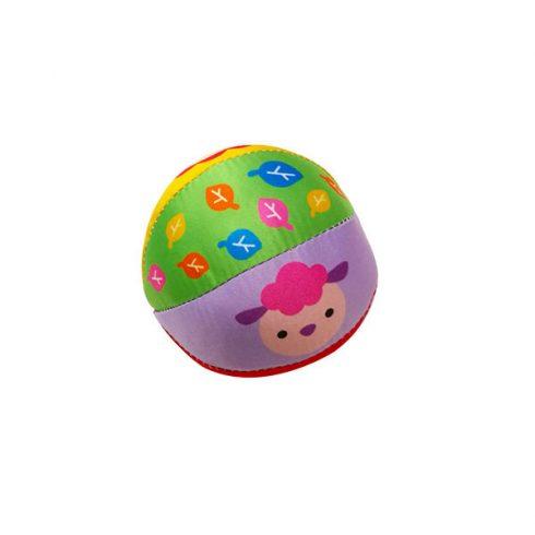 Csörgők kisbabáknak - Csörgős bébi labda többféle mintával 10cm