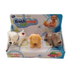 Pancsolós játékok - Fürdetős játékok babáknak - Spriccelős fürdőjáték foltos kutyusok, 3db-os