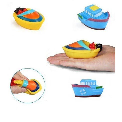 Vizezős játékok - Kis hajók gyerekeknek - Spriccelős hajó fürdőjáték 2 db