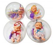 Műanyag babák - Alvós baba kapszulában tüllruhában Lovely baby