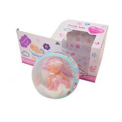 Műanyag babák - Alvós baba kapszulában dobozos Lovely baby