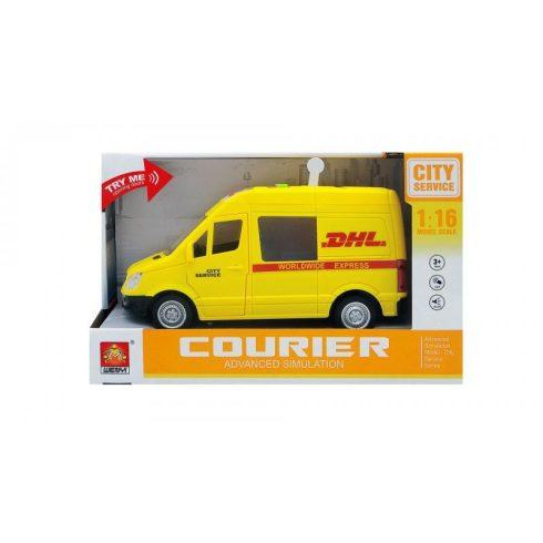 Műanyag járművek - DHL Szállítóautó funkciós
