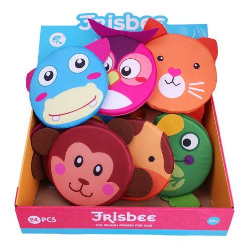 Fejlesztő játékok - Bébi játékok - Bébi frizbi puha anyagból, állatfejes többféle