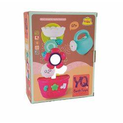 Pancsolós játékok - Fürdetős játékok babáknak- Fürdőjáték gyerekeknek virágos