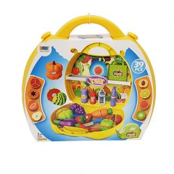 Játék konyhák - Edények - Játék élelmiszerek - Szeletelhető játék zöldség, gyümölcs bőröndben