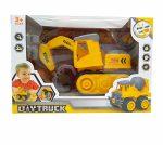 Autós szerelős játékok - Szerelős jármű lánctalpas markoló