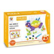 Ügyességi játékok - Kirakós játék teknős 128 db-os