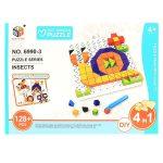 Ügyességi játékok - Kirakós játék csigás 128 db-os