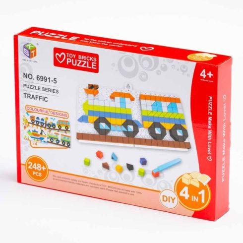 Ügyességi játékok - Kirakós játék vonatos 248 db-os
