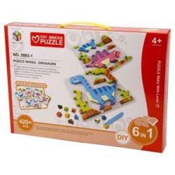Ügyességi játékok - Kirakós játék dinós 420 db-os
