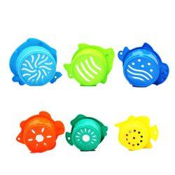Fürdetős játékok babáknak - Fürdőjáték állatfigurás pohárkák
