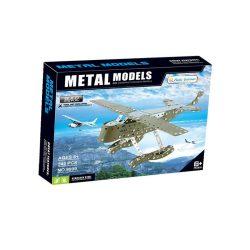 Építőjátékok gyerekeknek - Fából, Fémből, Műanyagból - Fém építőjáték katonai repülőgép 242db-os