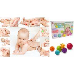 Fejlesztő játékok - Bébi játékok - Masszázs labdák 6 db-os készlet babáknak