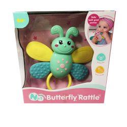 Rágókák - Bébijátékok - Csörgős rágóka pillangó
