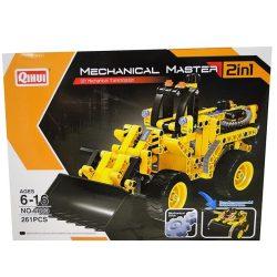 Építőjátékok gyerekeknek - Műanyagból - Építőjáték Mechanical Master 2 in 1 Markoló és Tank