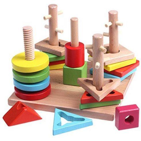 Fejlesztő játékok - Fa formaillesztő készségfejlesztő játék