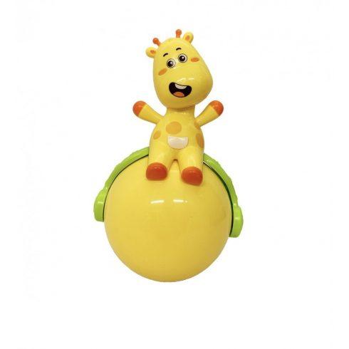 Fejlesztő játékok - Kelj fel állatka -zsiráf guruló gömbön
